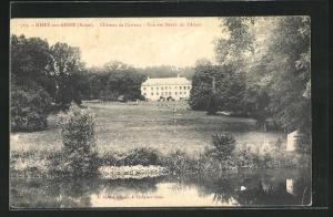 AK Missy-sur-Aisne, Chateau de Carreux, Vue des Bords de l`Aisne