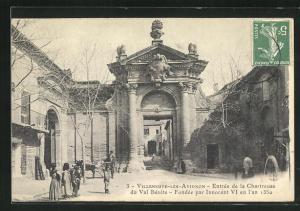 AK Villeneuve-les-Avignon, Entree de la Chartreuse du Val Benite, Fondee par Innocent VI. en l`an 1350
