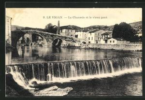 AK Le Vigan, La Chaussee et le vieux pont