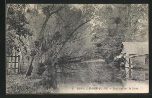 AK Janville-sur-Juine, Une vue sur la Juine