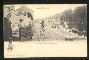 AK Saint Junien, Pont Notre-Dame et Megisseries