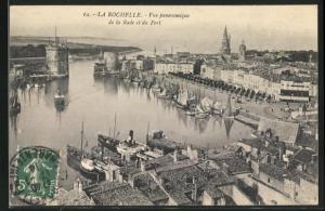AK La Rochelle, Vue panoramique de la Rade et du Port