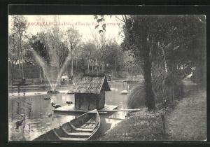 AK La Rochelle, La Piece d`Eau du parc Charruyen
