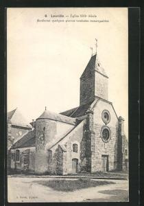 AK Leuville, Eglise XIII. siecle, renferme quelques pierres tombales remarquables