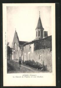 AK Ayron, Le Chevet de l`Eglise et son Clocher