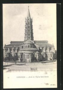 AK Toulouse, Abside de l`Eglise Saint-Sernin