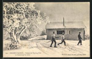 AK Baerenkopf, Ballon d`Alsace, Cabane du Touring-Club en hiver