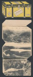 Leporello-AK Mont-Dore / Auvergne, Ansichten in einer Truhe, Ortsansicht, Viaduc des Fades, Le Puy de Dome