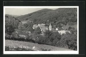 AK Tauchen / Burgenland, Ortsansicht mit Kirche