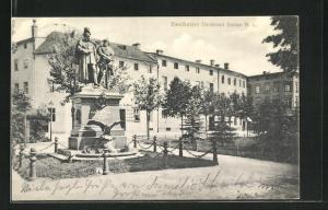 AK Sorau / N. L., Zweikaiser Denkmal