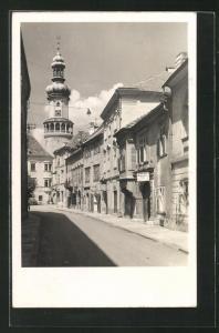 AK Sopron-Ödenburg, Klostergasse mit Geschäften