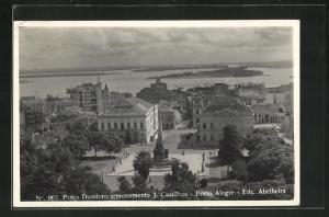 AK Porto Alegre, Praca Deodoro e monumento J. Castilhos