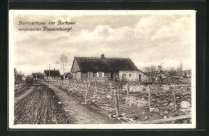 AK Borkowo, Drahtverhause von unseren Truppen besetzt