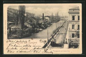 AK Sarajewo, Quaipartie mit linkem Ufer