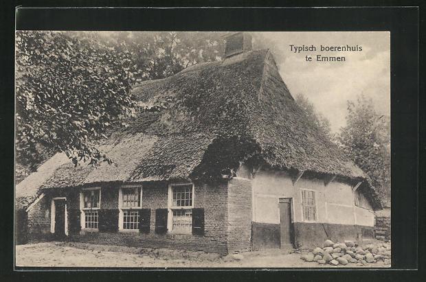 AK Emmen, Typisch boerenhuis, Reetdachhaus 0