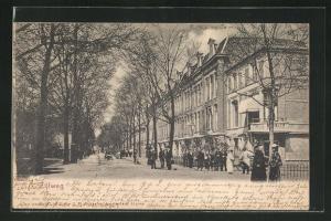 AK Haarlem, Zijlweg, prächtige Häuserfassaden
