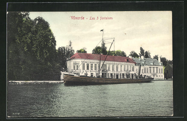 AK Vilvorde, Auberge Les 3 fontaines, Schiff Union V 0