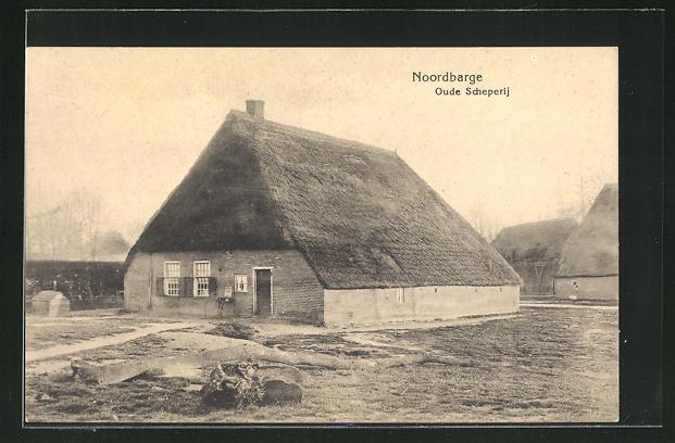 AK Noordbarge, Oude Scheperij, Reetdachhaus 0