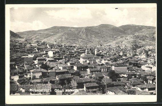 AK Asenovgrad, Ortsansicht mit Häuser, Kirchen und Berge 0