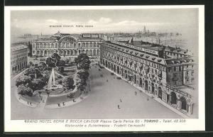 AK Torino, Grand Hotel Roma e Rocca Cavour, Piazza Carlo Felice 60, Stazione Princip, Porta Nova