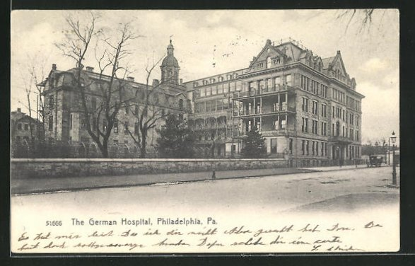 AK Philadelphia, PA, The German Hospital 0
