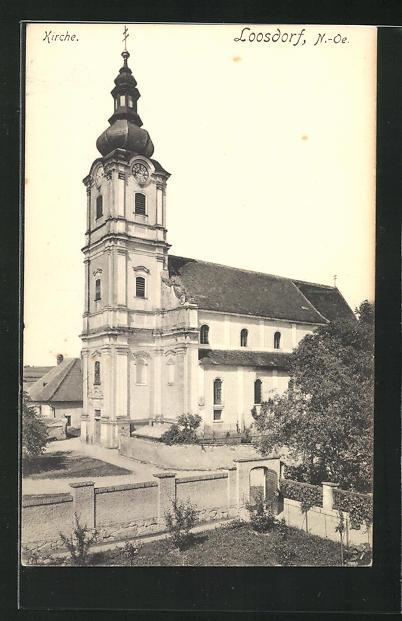 AK Loosdorf, Kirche, Eckfassade 0