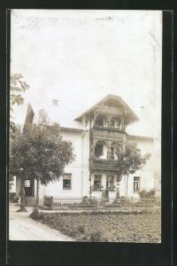 AK Reutte, Haus mit Loggia aus Holz