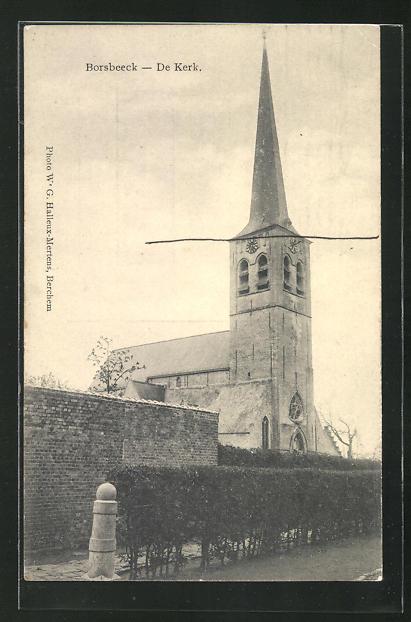 AK Borsbeeck, De Kerk, Kirche mit Mauer 0