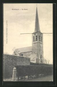AK Borsbeeck, De Kerk, Kirche mit Mauer