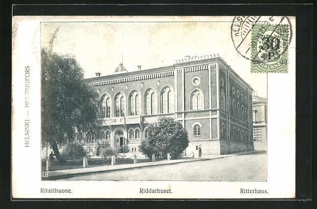 AK Helsinki, Riddarhuset, Ansicht vom Ritterhaus 0