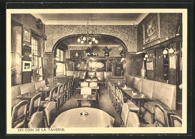 AK Brüssel / Bruxelles, Hotel-Taverne-Restaurant Canterbury, 129-135 Bd. Em. Jacqmain 0