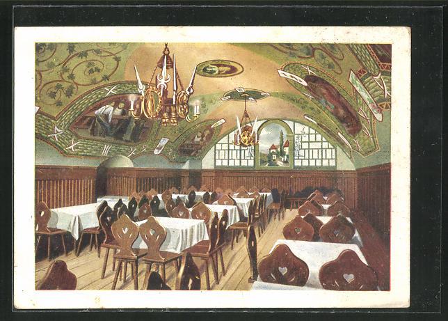 AK Wien, Gasthaus Klosterneuburger Keller, Renngasse 10, Rittersaal 0