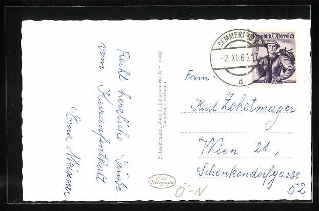 AK Semmering, Partie am Haus Vienna 1