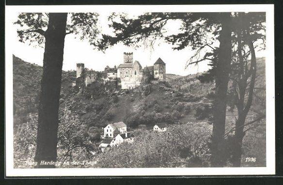 AK Hardegg an der Thaya, Blick zur Burg 0