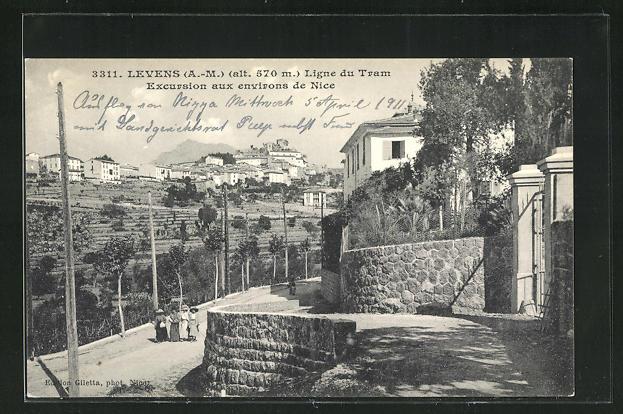 AK Levens, Ligne du Tram, Excursion aux environs de Nice 0