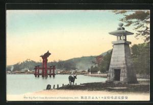 AK Aki, The Big Torii from Matsubara at Itsukushima
