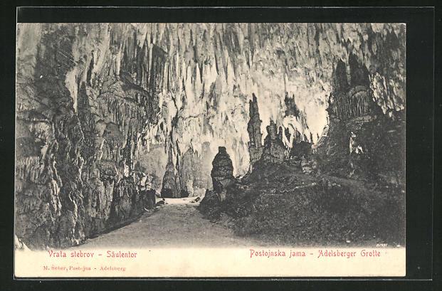 AK Adelsberger Grotte, Säulentor, Vrata stebro 0