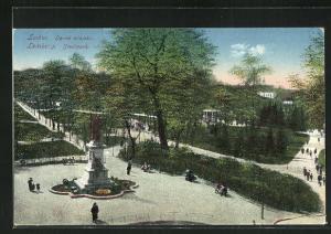 AK Lemberg / Lwow, Ogrod miejski, Stadtpark