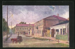 Künstler-AK Kowel, Alexander II.-Strasse