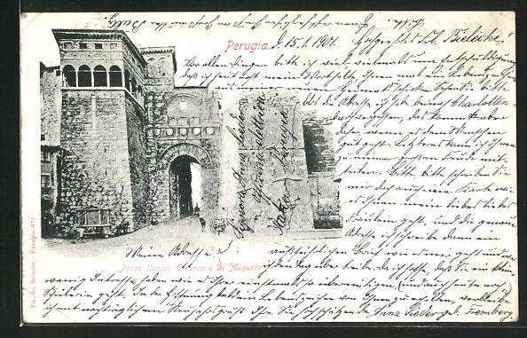 AK Perugia, Porta Urbica Etrusca o di Augusto 0