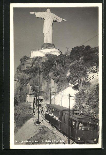 AK Rio de Janeiro, O Corgovado, Bergbahn 0