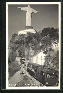 AK Rio de Janeiro, O Corgovado, Bergbahn