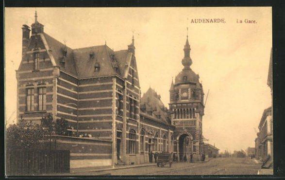 AK Audenarde, La Gare, Bahnhof 0