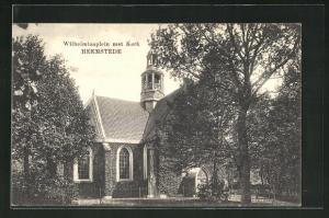 AK Heemstede, Wilhelminaplein met Kerk