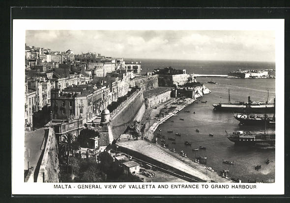 AK Valletta, General View and Entrance to grand Harbour 0