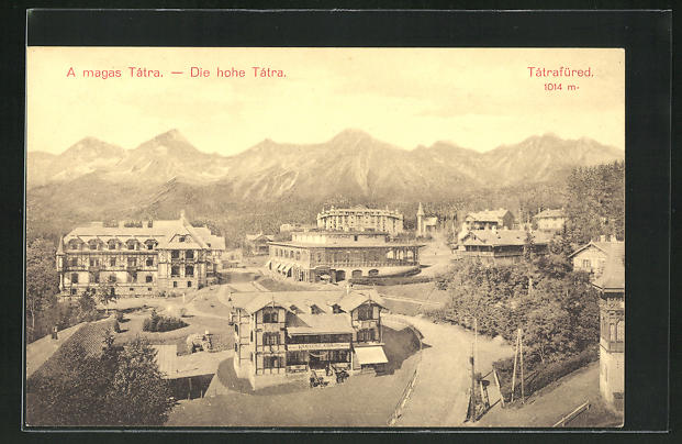 AK Die hohe Tatra / Tatrafüred, Panorama 0