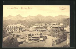 AK Die hohe Tatra / Tatrafüred, Panorama