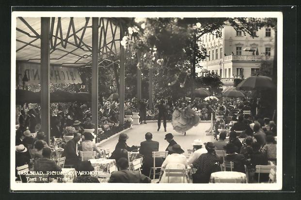 AK Karlsbad, Richmond Parkhotel, Tanztee im Freien 0