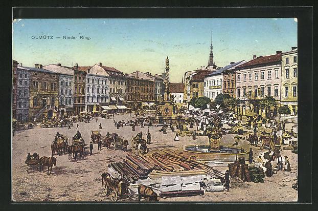 AK Olmütz, Nieder Ring mit Markt 0