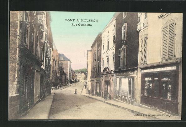 AK Pont-a-Mousson, Rue Gambetta 0